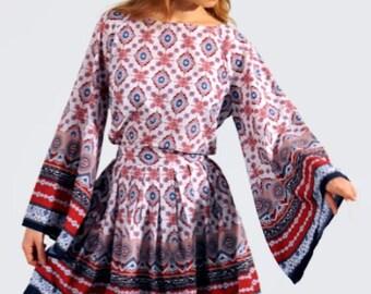 Long Dress with Plaids