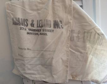 Set of 2 Vintage bank bags, Boston bank bags