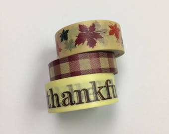 Washi tape 3 pack 5 yards each FALL Mix