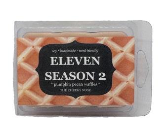 Pumpkin Pecan Waffle Melts, Wax Melts, Eleven Season 2, Eleven Wax Melts, Waffle Wax Melts, Scented Soy Melts, Pumpkin Melts, Soy Wax Tarts