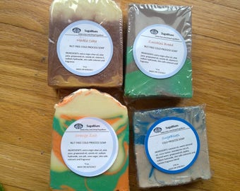 """4 Soap Bundle """"Far From Home"""" -- Handmade Cold Process"""