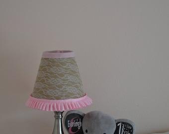 Lace Burlap Shabby Chic Lamp Shade