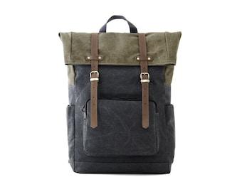 Laptop Backpack, Backpack, School Backpack, College Bag, Canvas Backpack, backpack Men, backpack Women, Travel Bag, GRAY CANVAS / CITYCARRY