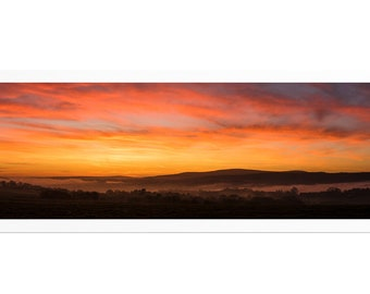 Sunrise over the lead man, Fine Art print signed and numbered