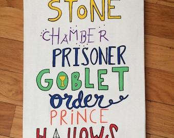 Harry Potter Books Canvas