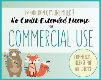 Extended License for Commercial Use of ALL CLIPART SETS - Extended Use of All Clip Art, Unlimited Production Quantity!