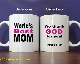 Best Mom Ever Mug Gift - Gifts for Mom Personalized - Mothers Day from Daughter - Son -Kids, MMA004