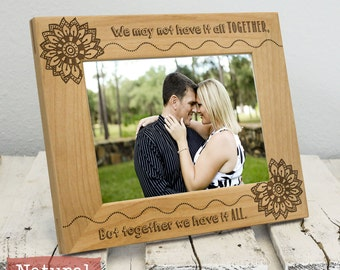 Valentines Picture Frame - Valentines Day Gift - Anniversary Gift - Wood Engraved - Wedding Gift