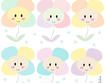 Spring Floral Clipart - Spring Flowers Clipart - Mothers Day Clipart - Personal and Commercial Use