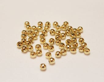 4mm GOLD plated spacers, Gold spacers, Gold round spacers