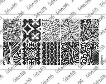 Nail stamping plate - EDMXL01