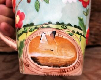 Sweet Dreams Mr Fox Mug - READY TO SHIP