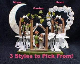 3 styles DISNEY Robin Hood & Maid Marian Wedding Cake Topper. Precious LOVE Figurine Groom Top Fox centerpiece figure