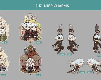 "2.5"" Nier and Nier Automata Charms"