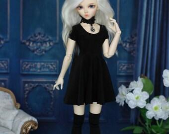 Black dress with stockings for MINIFEE, Narae, Unoa MSD, BJD 1/4 size
