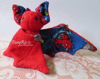 Spiderman and Iron Man Red Bat Plush