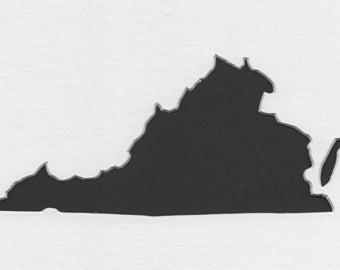 Virginia State Stencil Made from 4 Ply Mat Board-Choose a Size-From 5x7 to 24x36