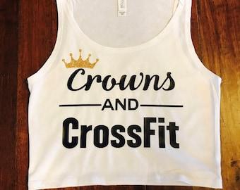 Crowns & Crossfit Crop Top