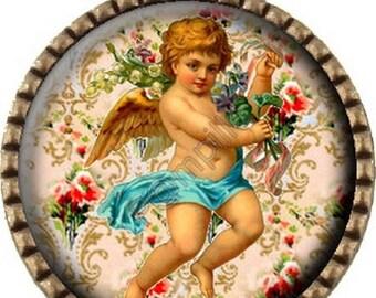 Bronze pendant Cabochon - little angel (454)