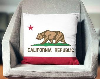 California Republic Flag Pillow | California Republic Decor | California Republic Pillow | California Republic Gifts | California Flag