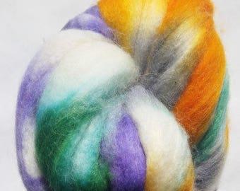 Lilly ~ Hand Painted Superwash Merino/Nylon/Alpaca/Silk Roving