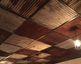 Ceiling Tiles Reclaimed Metal Roofing Barn Tin Drop Ceiling