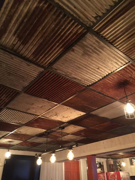 10 Pieces Of Reclaimed Metal Roofing Drop Ceiling