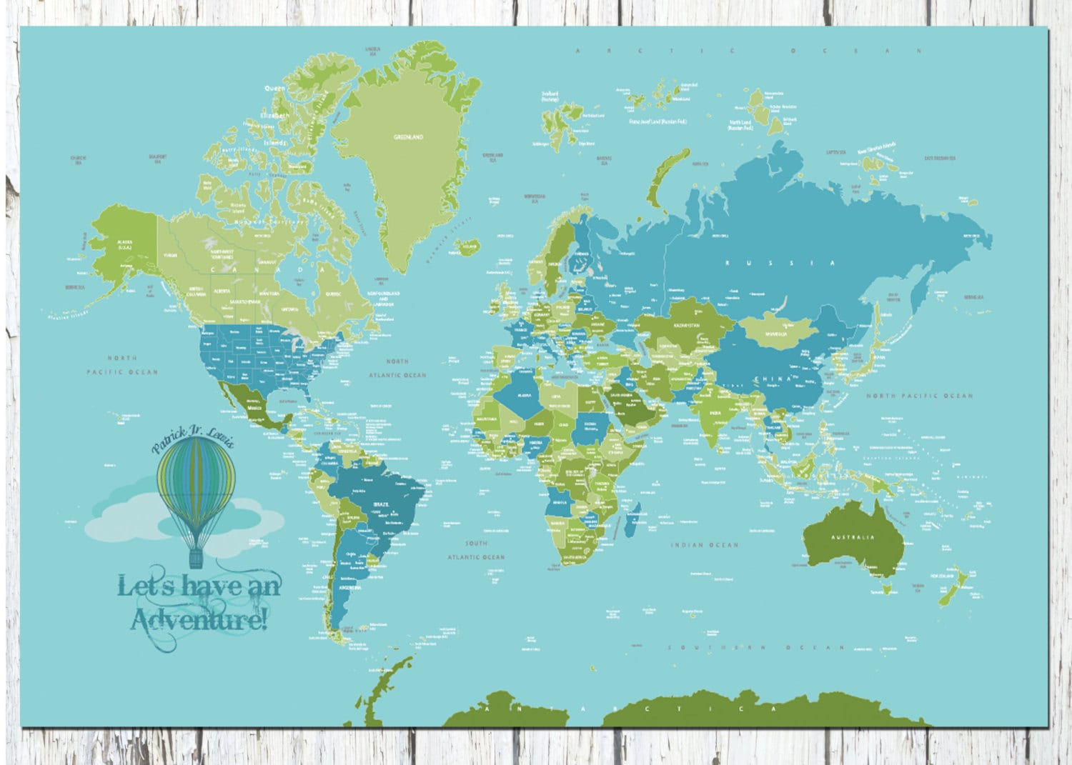 World Map Poster Country Names X Travel Artwork Travel - World map for boys room