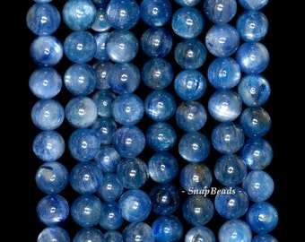 9mm Blue Kyanite Gemstone Blue Round 9mm Loose Beads 19 Beads (90147987-346)