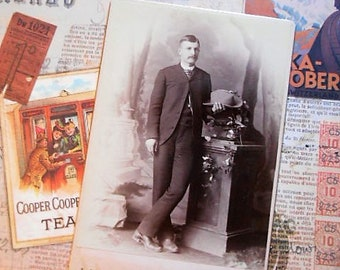 Gentleman with Hat Victorian Cabient Card  Photo Louisville KY