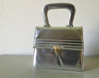 Vintage Silver Handbag Purse