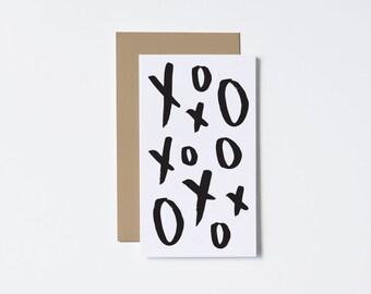 L'amour carte Mini Card XoXoXo