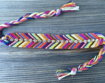 Boho Chevron Rhinestone Friendship Bracelet