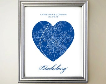 Blacksburg Heart Map