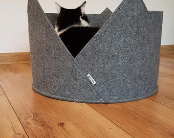 pet bed cat bed cat house made of felt minimalistic pet furniture
