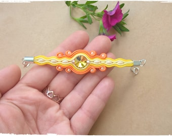 """Soutache bracelet """"Princess """""""