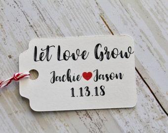 Lassen SIE Liebe wachsen, Wedding Favor Tags, Hochzeiten