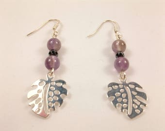 chic bohemian leaf earrings