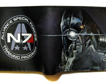 Leather wallet Mass Effect, Legion, Garrus Vakarian