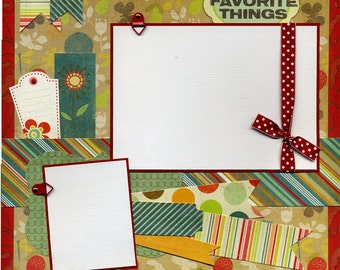My Favorite Things - Premade Scrapbook Page