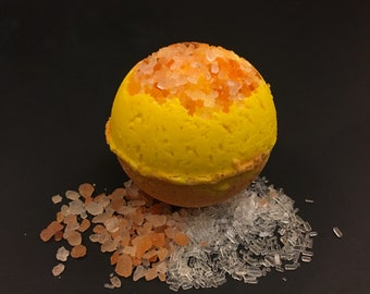 Citrus Bath Bomb | Himilayan Pink Salt Bath Bomb | Luxury Spa Gift
