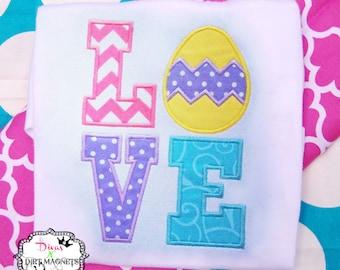 Easter Egg LOVE Embroidered Shirt - Easter Egg Embroidered Shirt - Easter Embroidered Shirt - Love Easter Shirt