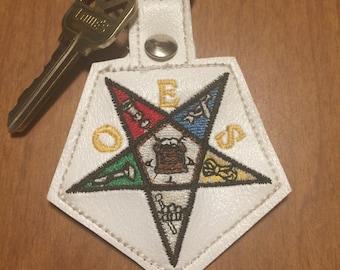 Order of the Eastern Star Keyfob, Eastern Star Keychain, OES Keyfob, Eastern Star, Masonic Body