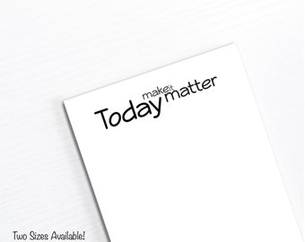 Inspirational Quote Word Cloud Notepad, Motivational To-Do List, Handmade Paper Pad