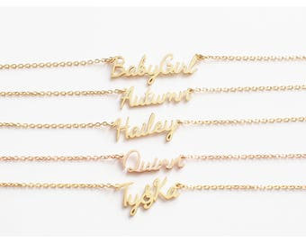 Custom Name Necklace / Name Jewelry / Children Names Necklace / Personalized Name Necklace / Holiday Gift for Her - HN01C