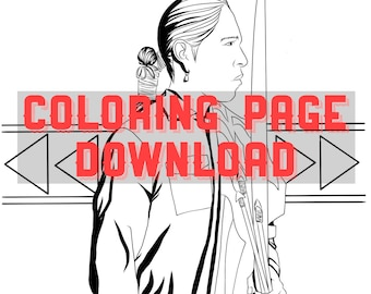 Native American Navajo man coloring page