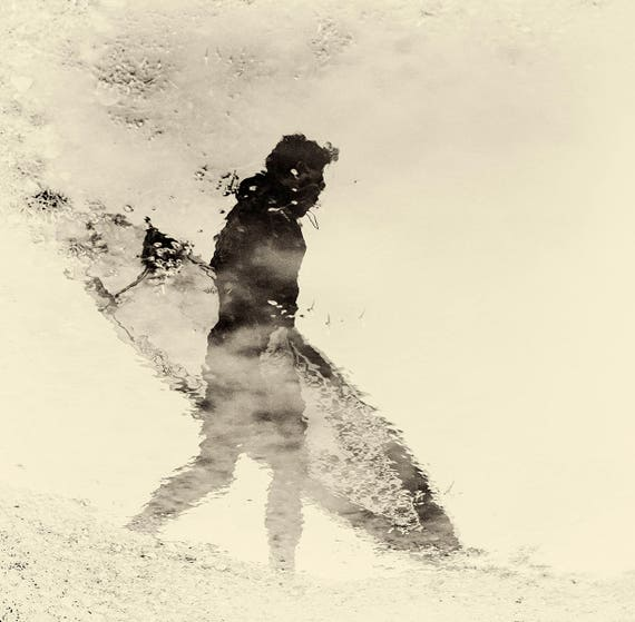 """Surfing Print,"""" REFLECTION"""". Surf Print, Artistic Photograph, Square print, Limited Edition, Reflection Print."""