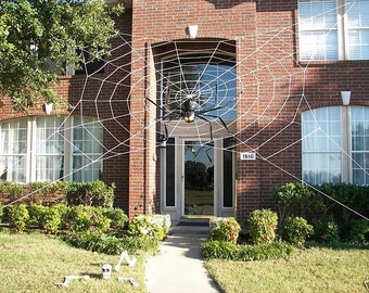 33 ft ULTRA Web - Giant Halloween Spider Web House Prop
