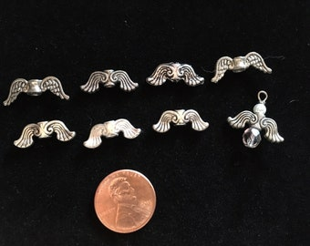 FREE SHIPPING 8 mix Angel Wing Beads