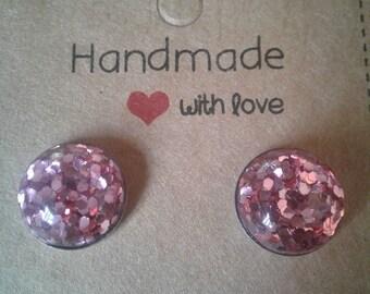 Light Pink Glitter 12MM